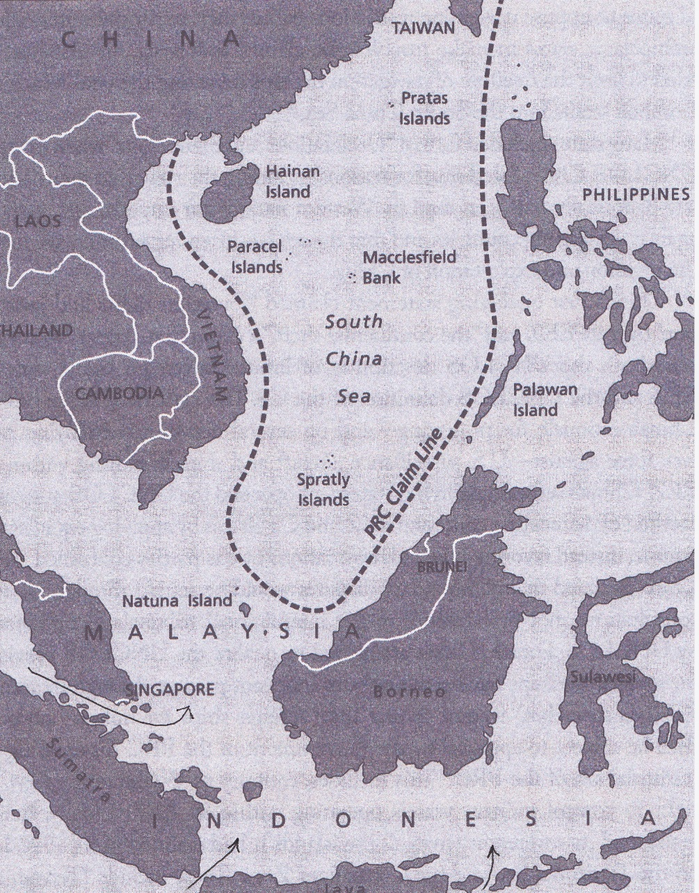 South China Sea and Key Straits