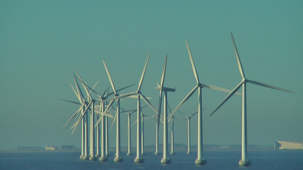 Wind Turbines off-shore Copenhagen, Denmark. Picture by D. Dears