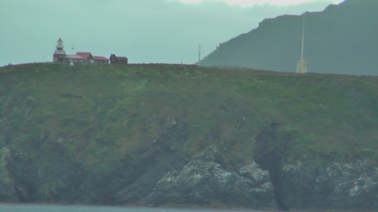 Picture by D. Dears of lighthouse and weather station, Horn Island, Chile