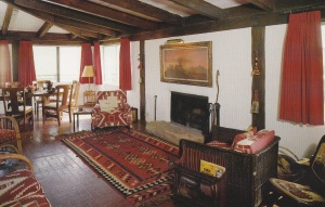 Front room on entering Reagan Ranch House.
