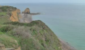 Pointe du Hoc. Looking down to landing site. Photo by D. Dears