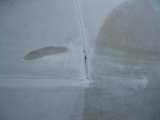 Crack in rotor blade. 2013