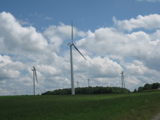 Wind farm in New York State. 2013