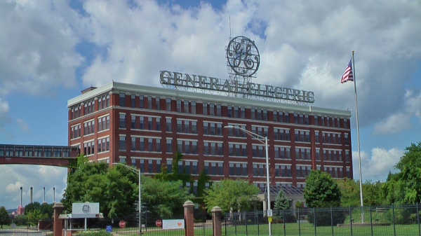 GE Company, Schenectady, Edison Avenue entrance. Photo by D. Dears