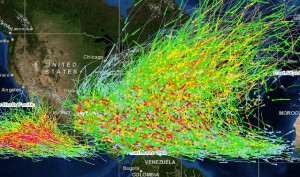 Hurricane Tracks from NOAA Web Site