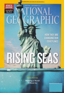 Sensational Cover Showing Statue Of Liberty Being Submerged by the Sea
