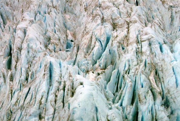 Glacier ice. Photo by D. Dears.