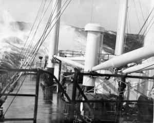 S.S. Reuben Tipton in Edge of Typhoon. Photo by D. Dears