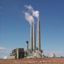 Coal-fired power plant. Photo courtesy of USGS