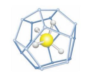 Methane molecule trapped in cage. From NETL