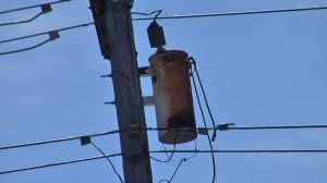 Rusty Pole Type Transformer. Photo by D. Dears