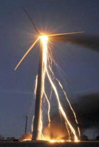 Wind Turbine Fire. Picture Courtesy of J. Droz
