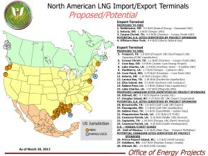LNG FERC Sites Map