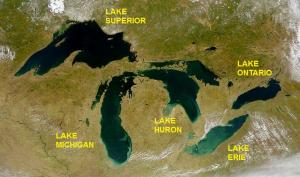 Great Lakes Satellite Image from Wikipedia