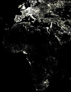 NASA Satellite Image of Nighttime Africa