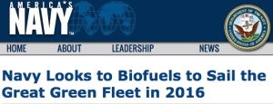 Headline from U.S. Navy Web Site