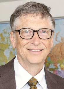 Bill Gates 2015 Meeting with UK International Development Secretary Justine Greening. Photo by Russell Watkins/DFID