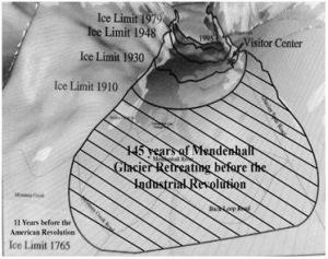 Mendenhall Glacier Retreat. From Roanoke Slant by L.B. Hagen