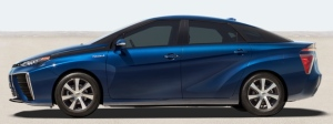 Hydrogen fuel cell powered Mirai from Toyota