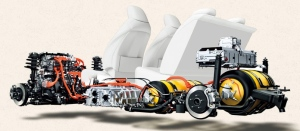 Mirai cutaway showing H2 storage tanks, courtesy Toyota