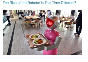 From LinkedIn Discussing Martin Ford's book, The Rise of the Robots: Is this Time Different?