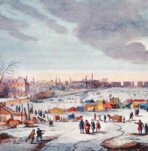 Fair on River Thames around 1683, by Thomas Wyke
