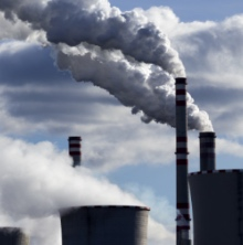 From Environmental Integrity Project (EIP) web site: Picture of power plants releasing steam into the air.