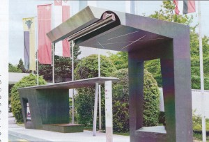 ABB designed flash charging station at 13 bus stops.